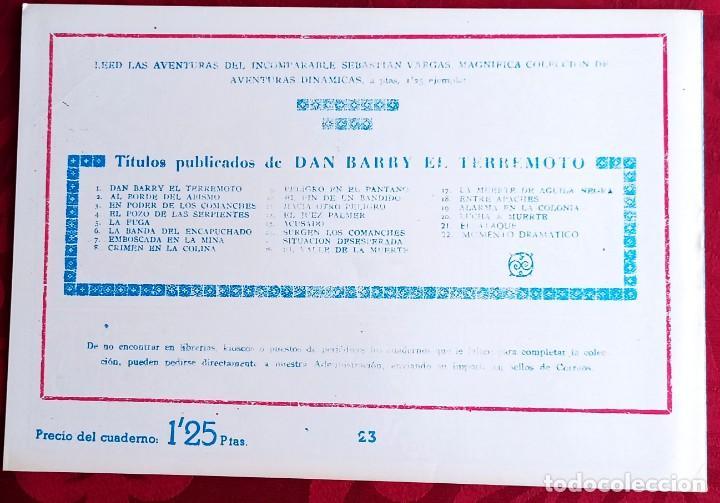 Tebeos: El TERREMOTO de Dan Barry - Original - Año 1954 - Núm. 23 - La estampida - Buen estado - Foto 2 - 251543150