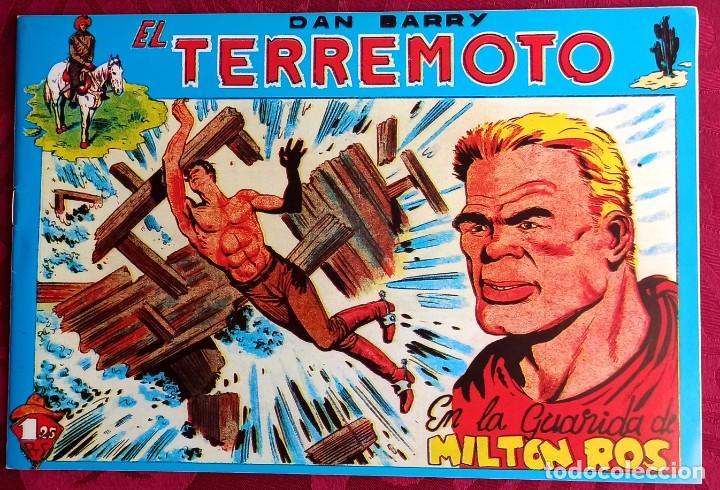 EL TERREMOTO DE DAN BARRY - ORIGINAL - AÑO 1954 - NÚM. 27 - EN LA GUARIDA DE MILTON ROS BUEN ESTADO (Tebeos y Comics - Maga - Apache)