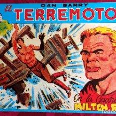 Tebeos: EL TERREMOTO DE DAN BARRY - ORIGINAL - AÑO 1954 - NÚM. 27 - EN LA GUARIDA DE MILTON ROS BUEN ESTADO. Lote 251543405
