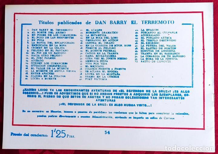 Tebeos: El TERREMOTO de Dan Barry - Original - Año 1954 - Núm. 54 - El misterio de Lorna Sprow - Buen estado - Foto 2 - 251544770