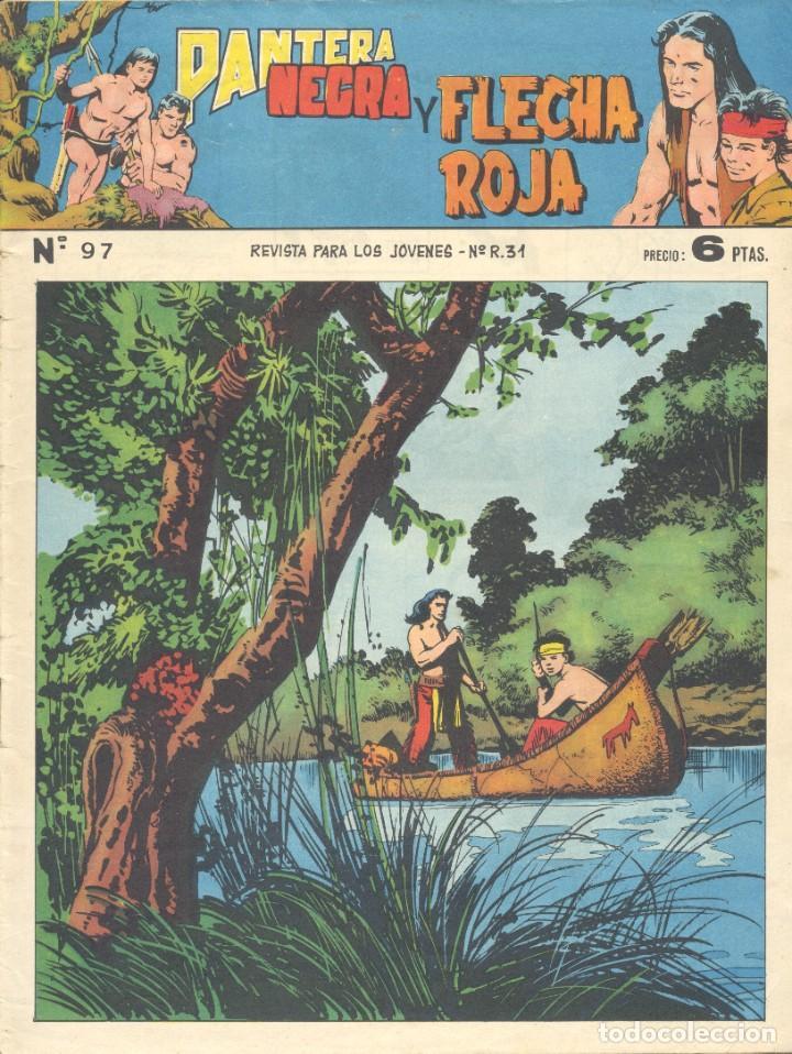 PANTERA NEGRA Y FLECHA ROJA Nº'97. EDITORIAL MAGA. ÚLTIMO NÚMERO. TEBEO ORIGINAL (Tebeos y Comics - Maga - Pantera Negra)