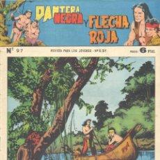 Tebeos: PANTERA NEGRA Y FLECHA ROJA Nº'97. EDITORIAL MAGA. ÚLTIMO NÚMERO. TEBEO ORIGINAL. Lote 252447615