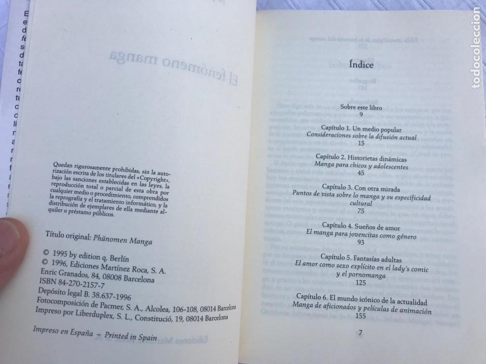 Tebeos: El fenómeno Manga, jaqueline Bernat, ed. Martinez Roca 1996 - Foto 4 - 252630745