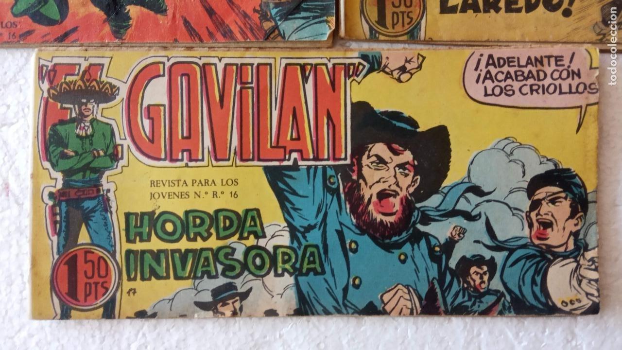 Tebeos: EL GAVILÁN ORIGINALES MAGA 1959 - NºS - 7,8,9,17,20 - Foto 2 - 254193365