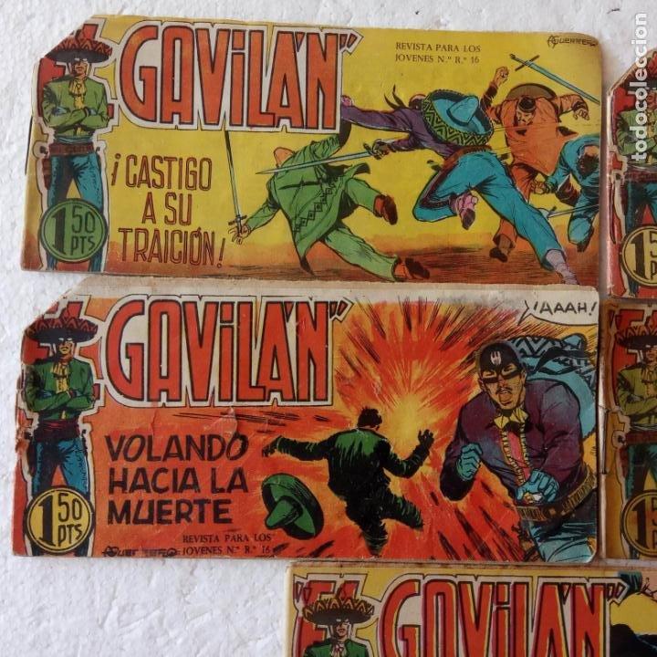 Tebeos: EL GAVILÁN ORIGINALES MAGA 1959 - NºS - 7,8,9,17,20 - Foto 3 - 254193365