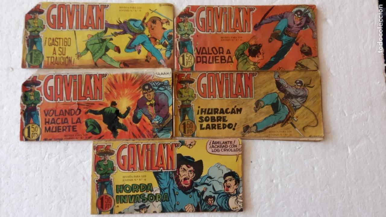 EL GAVILÁN ORIGINALES MAGA 1959 - NºS - 7,8,9,17,20 (Tebeos y Comics - Maga - Otros)