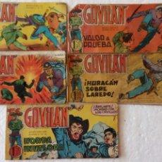Tebeos: EL GAVILÁN ORIGINALES MAGA 1959 - NºS - 7,8,9,17,20. Lote 254193365