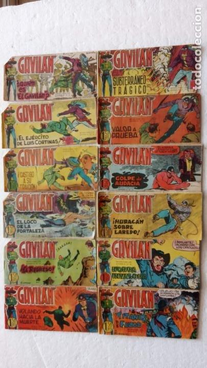 EL GAVILÁN ORIGINALES MAGA 1959 - NºS - 2,4,7,8,9,11,14,17,18,20,24 ANTONIO GUERRERO DIBUJOS (Tebeos y Comics - Maga - Otros)