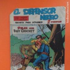Tebeos: EL DEFENSOR NEGRO - Nº 10 - PELEA CON DAVY CROCKET - EDITORIAL MAGA - ORIGINAL 1963. Lote 257663005