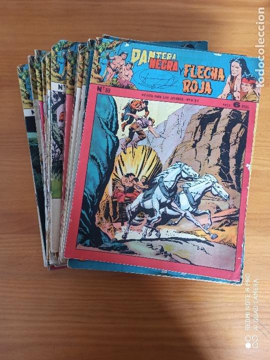 PANTERA NEGRA Y FLECHA ROJA CASI COMPLETA A FALTA DE LOS NUMEROS 79, 80 Y 81 - ORIGINAL - MAGA (AJ) (Tebeos y Comics - Maga - Pantera Negra)