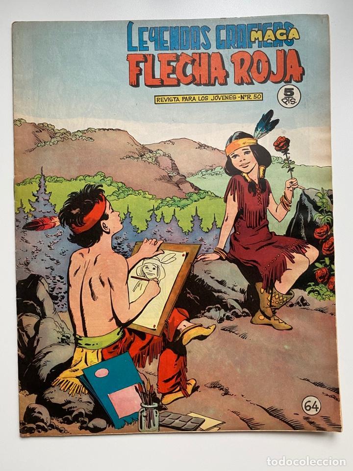 FLECHA ROJA. Nº 64. LEYENDAS GRÁFICAS MAGA. REVISTA PARA LOS JOVENES Nº R.50. EDITORIAL MAGA. (Tebeos y Comics - Maga - Flecha Roja)