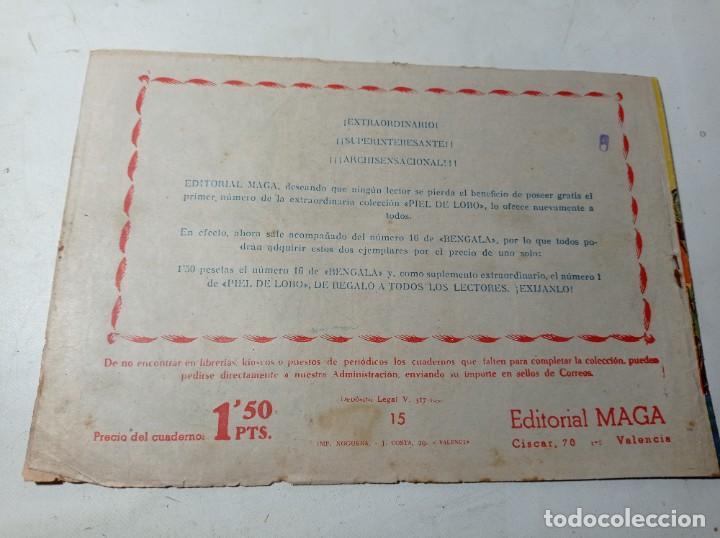 Tebeos: Original bengala Morgan el cazador número 15 editorial maga años 60 - Foto 2 - 263924145