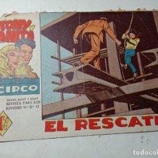 Tebeos: ORIGINAL TONY Y ANITA LOS ASES DEL CIRCO EL RESCATE NÚMERO 8 MAGA 1960. Lote 263925450
