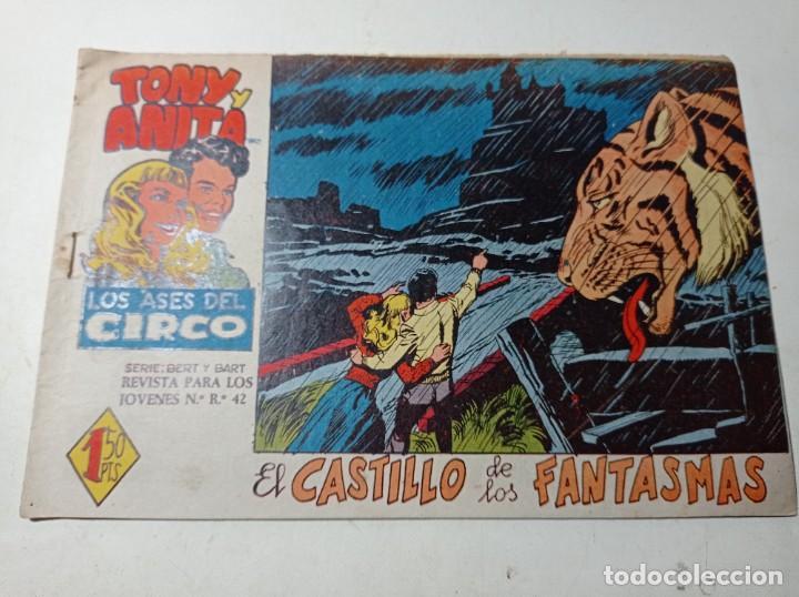 ORIGINAL TONY Y ANITA LOS ASES DEL CIRCO EL CASTILLO DE LOS FANTASMAS NÚMERO 4 AÑO 1960 (Tebeos y Comics - Maga - Tony y Anita)