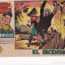 Tebeos: TONY Y ANITA (2ª PARTE) : NUMERO 9 EL INCENDIO , EDITORIAL MAGA. Lote 264622134