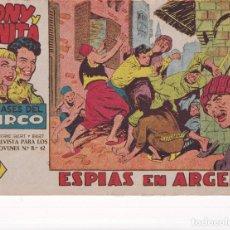 Tebeos: TONY Y ANITA (2ª PARTE) : NUMERO 23 ESPIAS EN ARGEL , EDITORIAL MAGA. Lote 264676404
