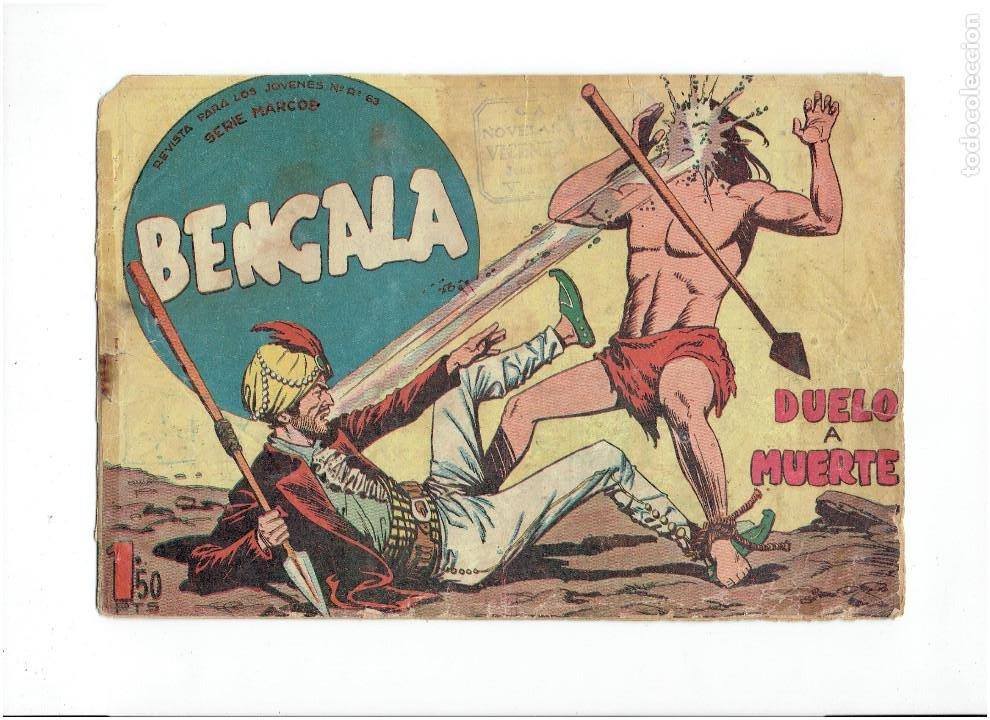ARCHIVO * BENGALA * 1ª SERIE Nº 48 * EDITORIAL MAGA 1959 * (Tebeos y Comics - Maga - Bengala)