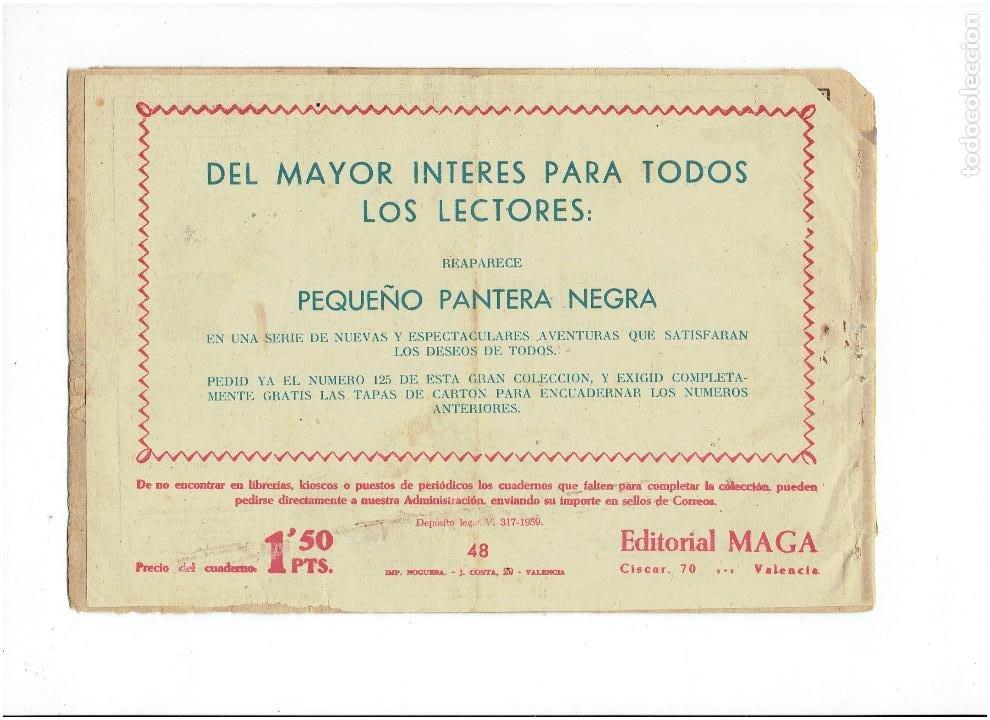 Tebeos: Archivo * BENGALA * 1ª serie Nº 48 * EDITORIAL MAGA 1959 * - Foto 2 - 266402768