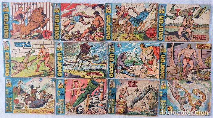 LOTE 12 TEBEOS ORIGINALES EL COLOSO Y EL PRINCIPE DE RODAS - EDITORIAL MAGA (Tebeos y Comics - Maga - Otros)