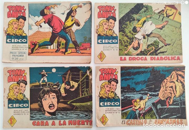 Tebeos: LOTE 16 TEBEOS ORIGINALES TONY Y ANITA, LOS ASES DEL CIRCO - EDITORIAL MAGA - Foto 2 - 275608883