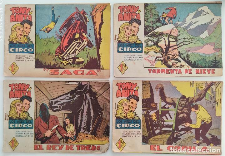 Tebeos: LOTE 16 TEBEOS ORIGINALES TONY Y ANITA, LOS ASES DEL CIRCO - EDITORIAL MAGA - Foto 3 - 275608883
