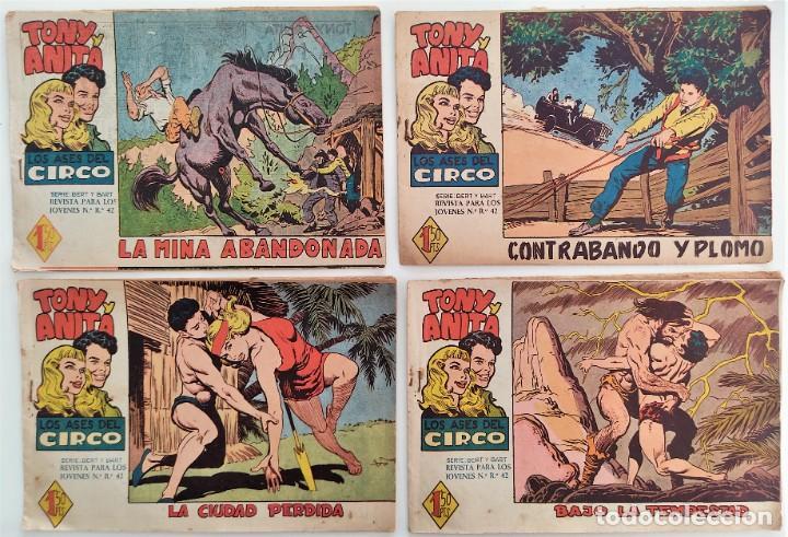 Tebeos: LOTE 16 TEBEOS ORIGINALES TONY Y ANITA, LOS ASES DEL CIRCO - EDITORIAL MAGA - Foto 4 - 275608883