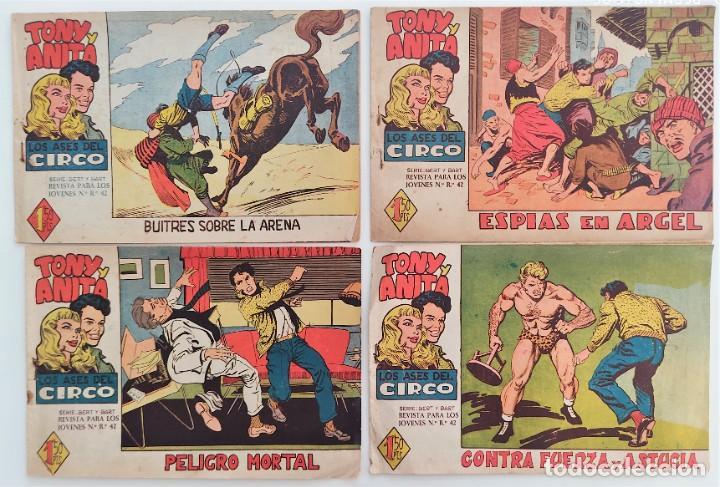 Tebeos: LOTE 16 TEBEOS ORIGINALES TONY Y ANITA, LOS ASES DEL CIRCO - EDITORIAL MAGA - Foto 5 - 275608883