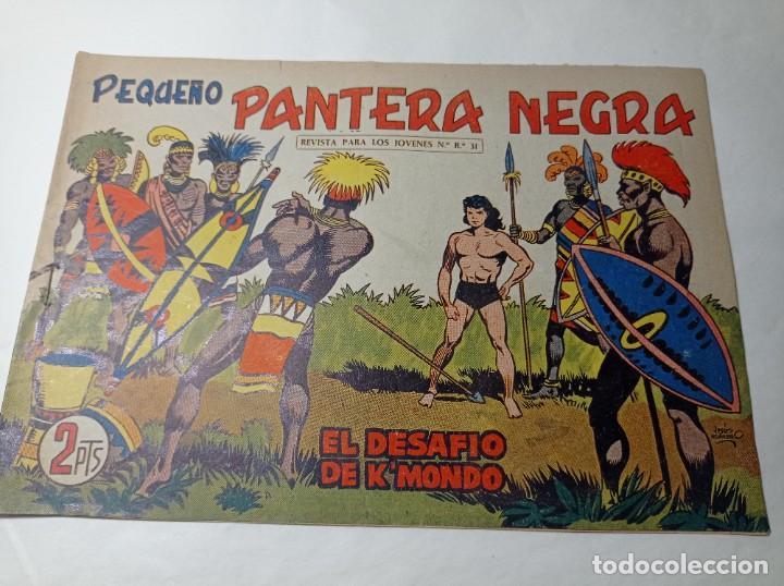 ORIGINAL NO COPIA. PEQUEÑO PANTERA NEGRA EL DESAFÍO KMONDO 213 MAGA AÑO 1958 (Tebeos y Comics - Maga - Pantera Negra)