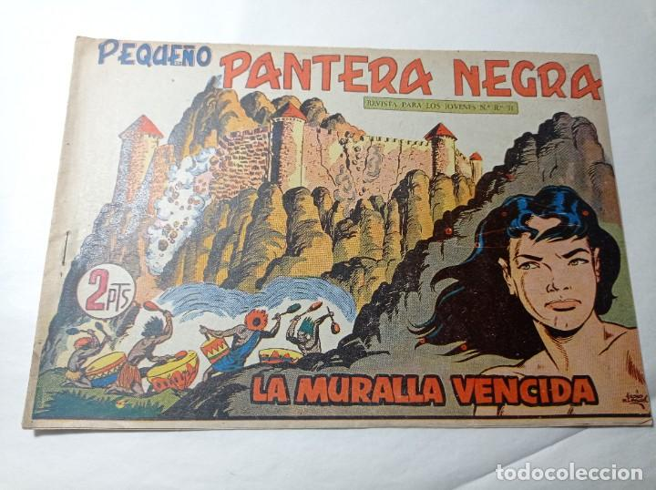 ORIGINAL NO COPIA. PEQUEÑO PANTERA NEGRA LA MURALLA VENCIDA 214 MAGA AÑO 1958 (Tebeos y Comics - Maga - Pantera Negra)