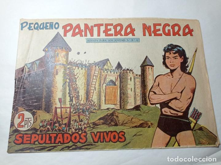 ORIGINAL NO COPIA. PEQUEÑO PANTERA NEGRA SEPULTADOS VIVOS 228 MAGA AÑO 1958 (Tebeos y Comics - Maga - Pantera Negra)