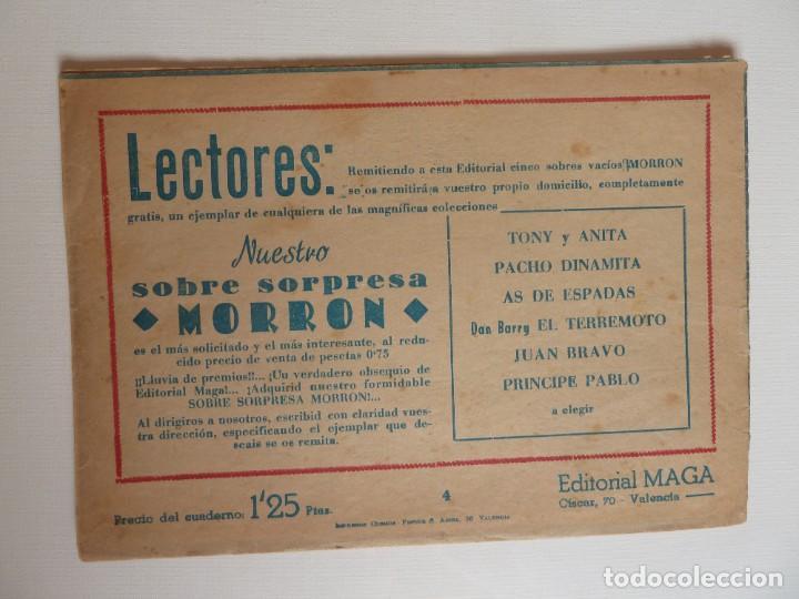 Tebeos: Dan Barry el terremoto, colección completa, suelta, 76 ejemplares de José Ortiz, Maga 1954. - Foto 8 - 277152988