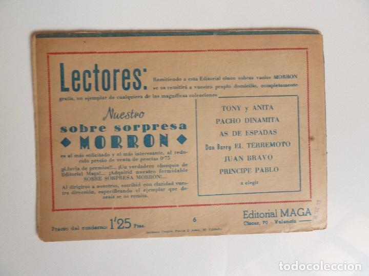 Tebeos: Dan Barry el terremoto, colección completa, suelta, 76 ejemplares de José Ortiz, Maga 1954. - Foto 12 - 277152988