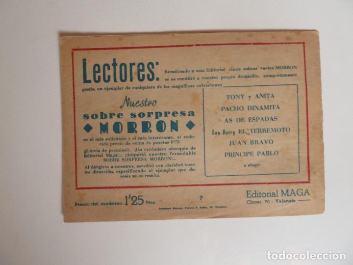 Tebeos: Dan Barry el terremoto, colección completa, suelta, 76 ejemplares de José Ortiz, Maga 1954. - Foto 14 - 277152988