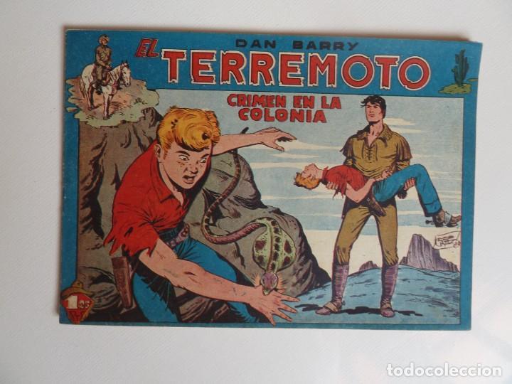 Tebeos: Dan Barry el terremoto, colección completa, suelta, 76 ejemplares de José Ortiz, Maga 1954. - Foto 15 - 277152988