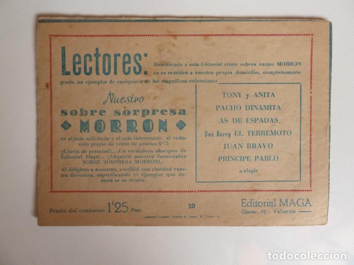 Tebeos: Dan Barry el terremoto, colección completa, suelta, 76 ejemplares de José Ortiz, Maga 1954. - Foto 20 - 277152988