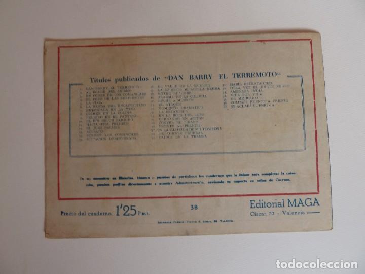 Tebeos: Dan Barry el terremoto, colección completa, suelta, 76 ejemplares de José Ortiz, Maga 1954. - Foto 76 - 277152988