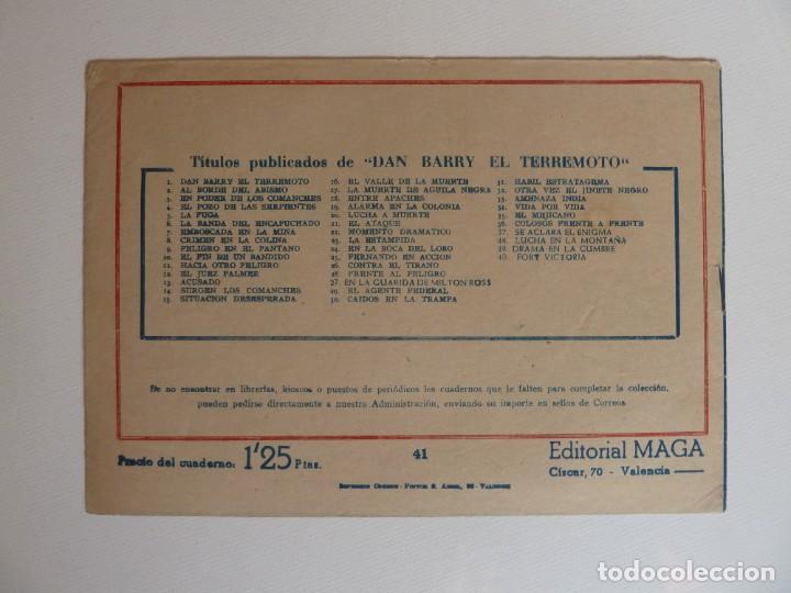 Tebeos: Dan Barry el terremoto, colección completa, suelta, 76 ejemplares de José Ortiz, Maga 1954. - Foto 82 - 277152988