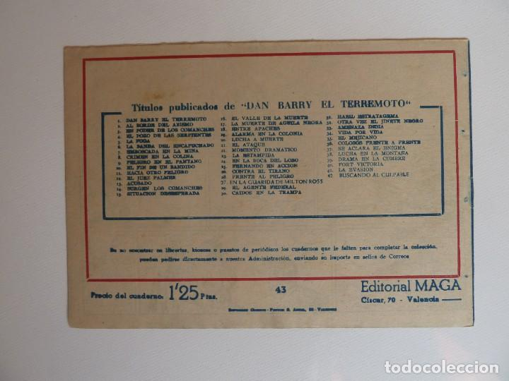 Tebeos: Dan Barry el terremoto, colección completa, suelta, 76 ejemplares de José Ortiz, Maga 1954. - Foto 86 - 277152988