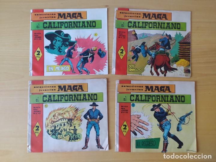 LOTE 4 COMICS, EL CALIFORNIANO, AÑOS 60 (Tebeos y Comics - Maga - Otros)