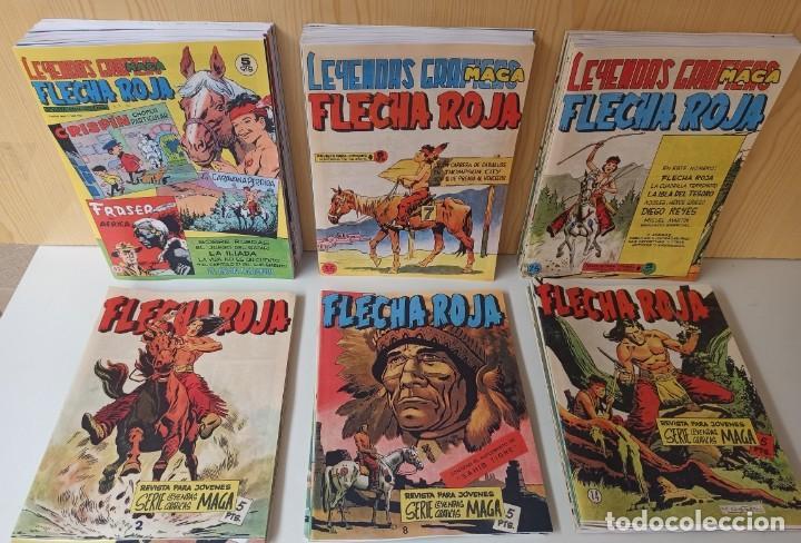 FLECHA ROJA REVISTA PARA JOVENES - COLECCIÓN COMPLETA 65 NUMEROS - REEDICIÓN EDITORIAL MAGA. (Tebeos y Comics - Maga - Flecha Roja)