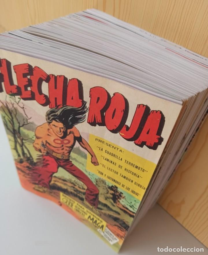 Tebeos: FLECHA ROJA REVISTA PARA JOVENES - COLECCIÓN COMPLETA 65 NUMEROS - REEDICIÓN EDITORIAL MAGA. - Foto 3 - 281798003