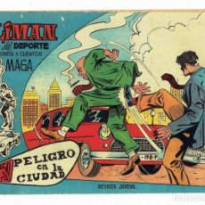 Tebeos: OLIMAN AS DEL DEPORTE Nº 6 - PELIGRO EN LA CIUDAD (MAGA 1961) 21 X 15 CM. Lote 283386888