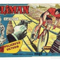 Tebeos: OLIMAN, AS DEL DEPORTE Nº 15 - PELIGROSA VICTORIA (MAGA 1961) ORIGINAL. Lote 283389218