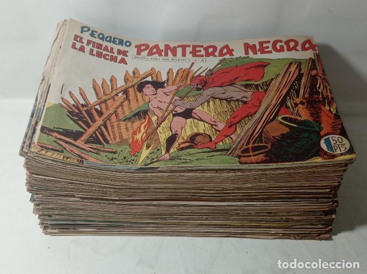 ORIGINAL NO COPIA. GRAN LOTE COLECCIÓN PEQUEÑO PANTERA NEGRA EDITORIAL MAGA AÑO 1958. 238 UNIDADES (Tebeos y Comics - Maga - Pantera Negra)