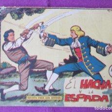 Tebeos: LOTE 14 TEBEOS HACHA Y ESPADA SERIE LOS TRES BILL ED. MAGA 1961 VER FOTOS ADICIONALES. Lote 287545868