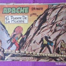 Tebeos: LOTE 13 TEBEOS APACHE 2ªPARTE ED. MAGA 1958 VER FOTOS ADICIONALES. Lote 287728298