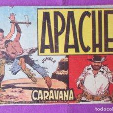Tebeos: LOTE 14 TEBEOS APACHE 1ªPARTE ED. MAGA 1958 VER FOTOS ADICIONALES. Lote 287730333