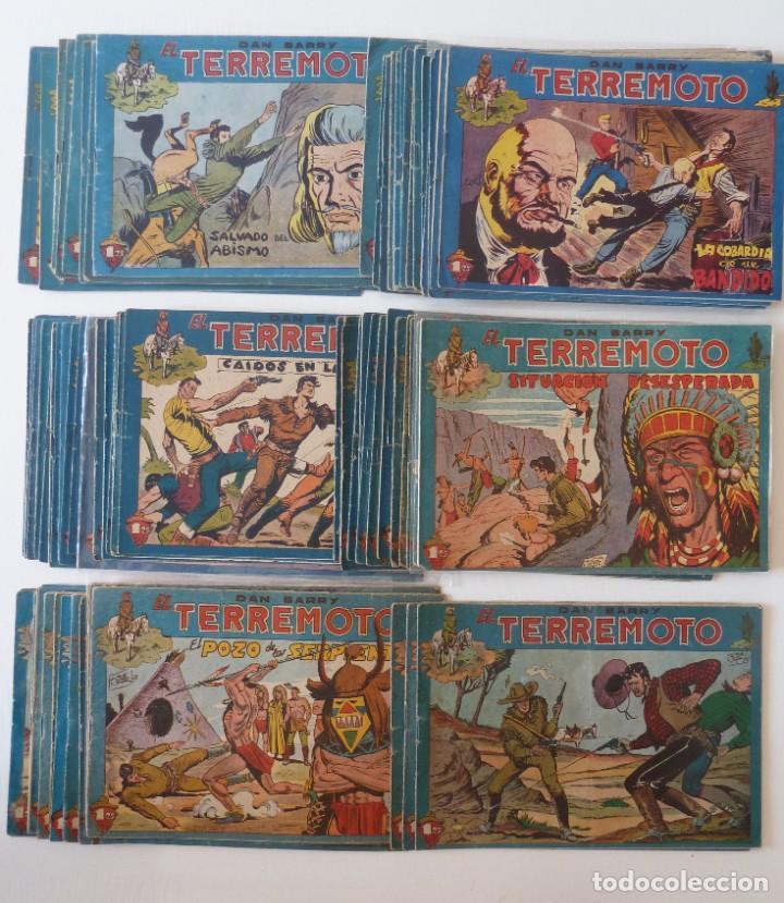 Tebeos: Dan Barry el terremoto, colección completa, suelta, 76 ejemplares de José Ortiz, Maga 1954. - Foto 154 - 277152988