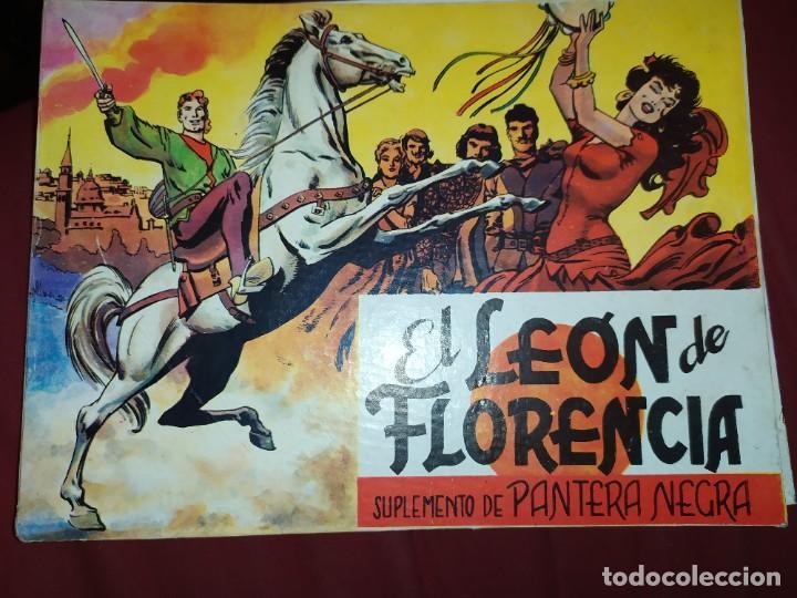 SOLO TAPAS EL LEÓN DE FLORENCIA SUPLEMENTO DE PANTERA NEGRA (Tebeos y Comics - Maga - Pantera Negra)