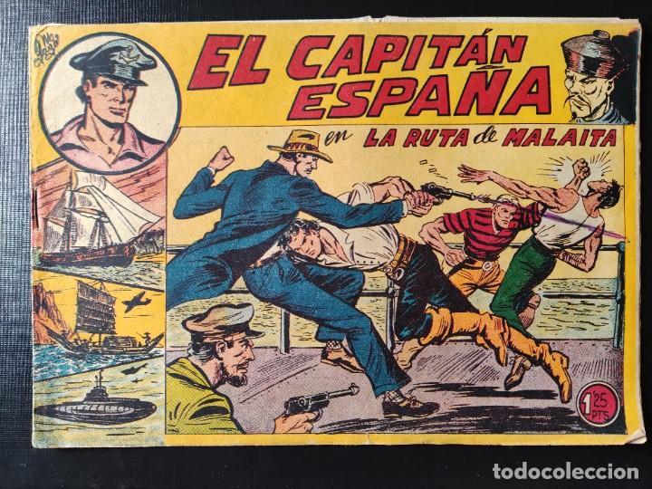 TEBEO- EL CAPITÁN ESPAÑA EN LA RUTA DE MALAITA (Tebeos y Comics - Maga - Otros)